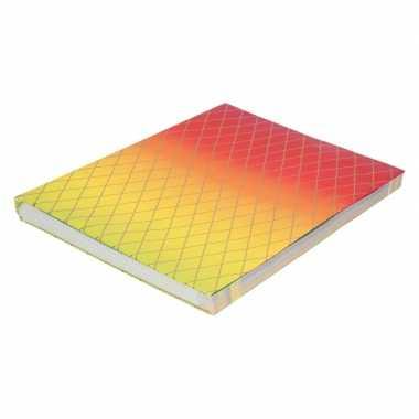 Kaftpapier regenboog kleuren en grafische print 200 cm