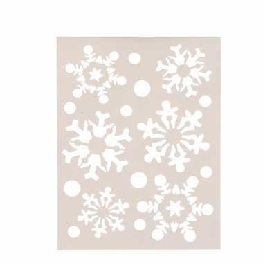 Kerstversiering sneeuwvlok raam sjabloon 21 x 30 cm