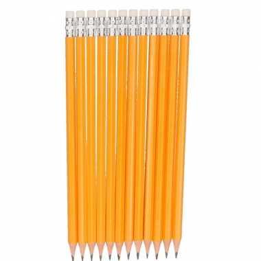 Kinder hb grijze schrijf of teken potloden 12x stuks
