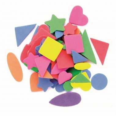 Knutsel foam 120 stuks gekleurde figuurtjes