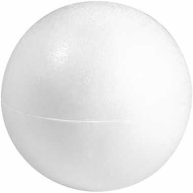 Knutselmateriaal bal/bol 50 cm halve schalen styrofoam/polystyreen/piepschuim