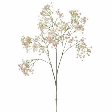 Kunstbloemen gipskruid/gypsophila takken roze 95 cm