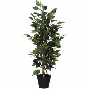 Kunstplant ficus groen bladeren 95 cm
