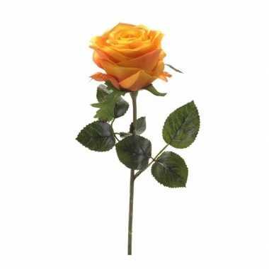 Kunstrozen simone geel oranje 45 cm
