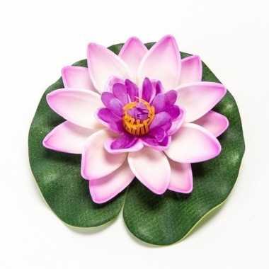 Lila paarse kunst waterlelie kunstbloemen 10 cm decoratie