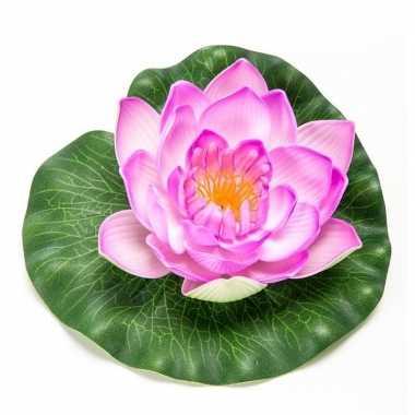 Lila paarse kunst waterlelie kunstbloemen 16 cm decoratie
