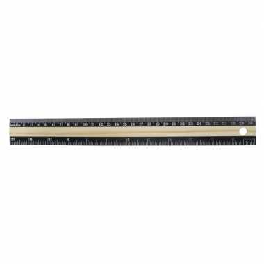 Liniaal zwart 30 cm