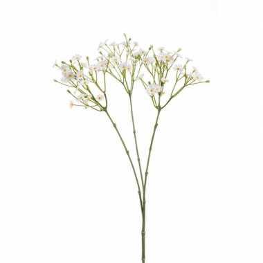 Madelief kunstbloem tak 65 cm wit