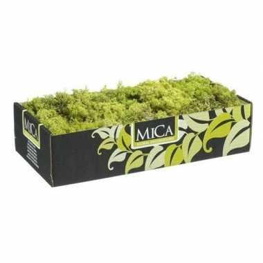 Mica decoratie rendiermos lichtgroen 500 gram/0,5 kilo