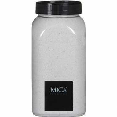 Mica decoratie zandkorrels wit 1 kg/kilo