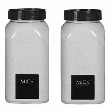 Mica decoratie zandkorrels wit 2 kg/kilo