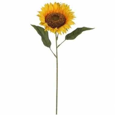 Mica gele kunst zonnebloem kunstbloemen 70 cm decoratie