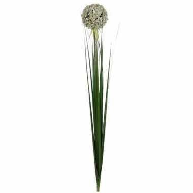 Mica witte kunst allium/sierui kunstbloemen 80 cm decoratie