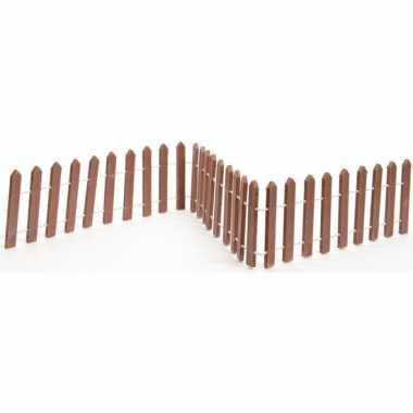 Miniatuur tuin hekjes bruin 45 cm