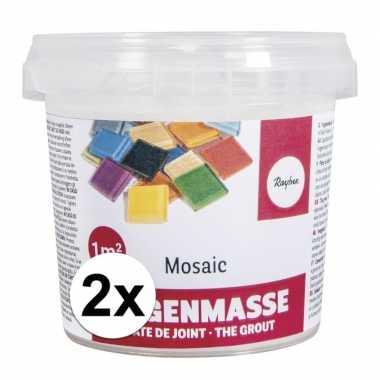 Mozaiek voegmiddel wit emmer 1000 gram