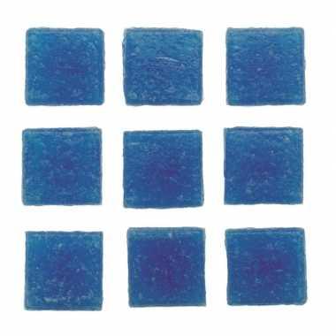 Mozaieken 30 blauwe steentjes 2 cm