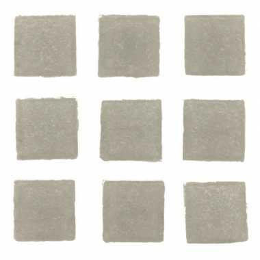 Mozaieken 30 grijze steentjes 2 cm