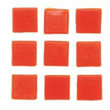 Mozaieken 30 oranje steentjes 2 cm