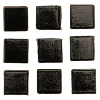 Mozaieken 30 zwarte steentjes 2 cm