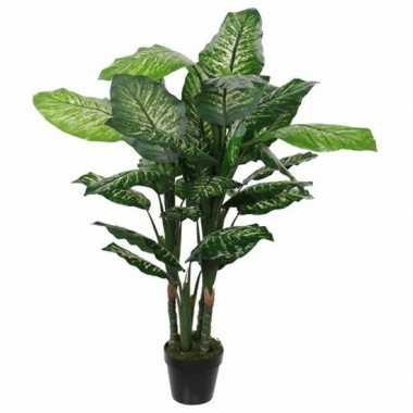 Nep planten groene dieffenbachia kunstplanten 120 cm met pot