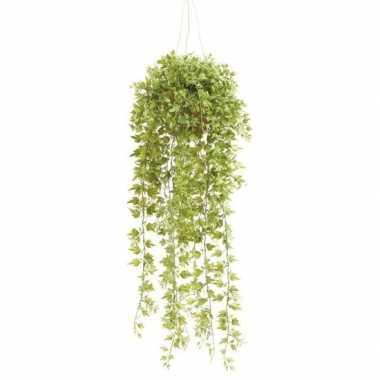 Nep planten groene hedera/klimop kunstplanten 50 cm met hangpot