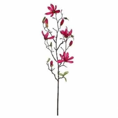 Nep planten magnolia beverboom kunstbloemen takken 175 cm decoratie