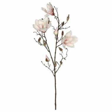 Nep planten magnolia beverboom kunstbloemen takken 188 cm decoratie