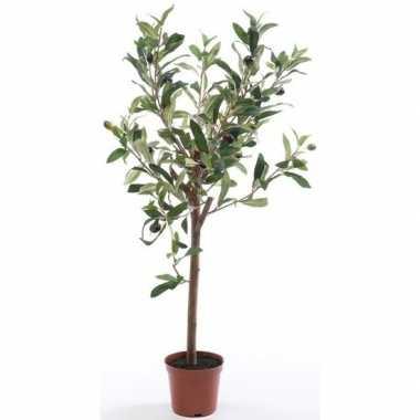 Olijfbomen kunstplanten/kunstbomen 65 cm in kunststof plantenpot
