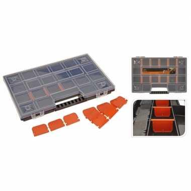 Opberg/sorteer box voor naaispullen zwart 29 cm