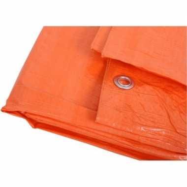 Oranje zeildoeken 10 x 12 meter