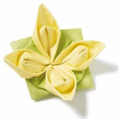 Origami servetten gele bloem