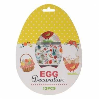 Paasontbijt paaslunch eieren decoreren versieren 12 stuks