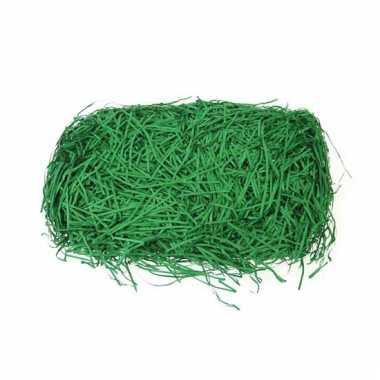 Papieren deco gras groen 40 gram