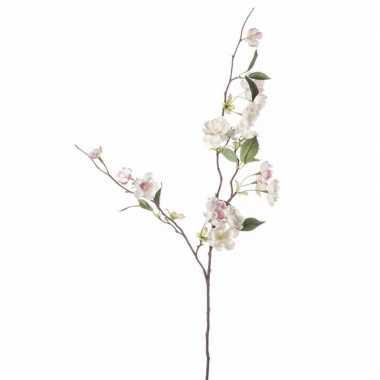 Peach blossom kunstbloem tak 80 cm roze