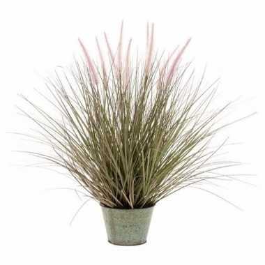 Pennisetum kunstplant 58 cm met pot