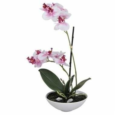 Phalaenopsis kunst plant in pot 25 cm roze