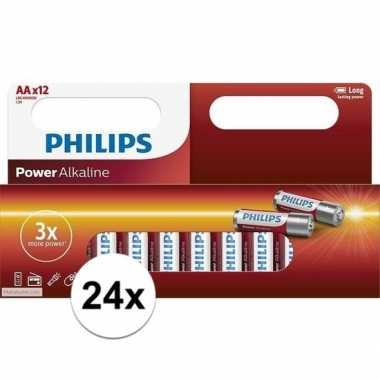 Philips aa batterijen 24 stuks
