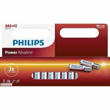 Philips aaa batterijen 12 stuks