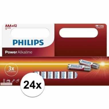 Philips aaa batterijen 24 stuks