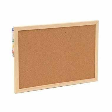 Prikbord/memobord naturel kurk 30 x 45 cm