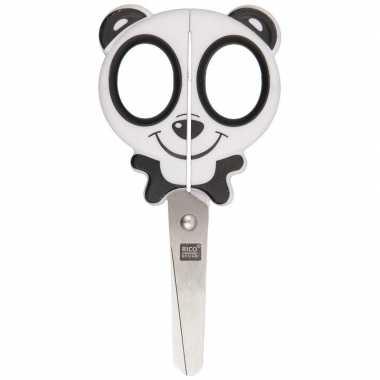 Rechts- en linkshandige schaar panda hoofd voor kinderen