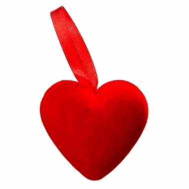 Rode hartjes 6 stuks