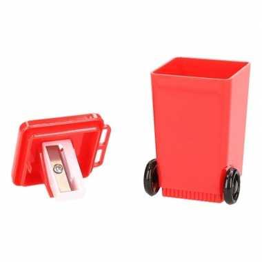 Rode rolcontainer puntenslijper 6 cm