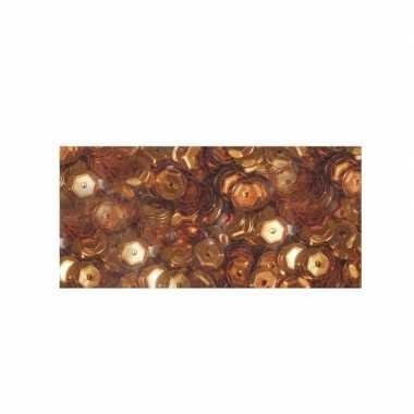 Roest bruine pailletten 6 mm 500 stuks