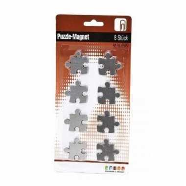 Roestvrijstalen puzzel magneten 8 stuks