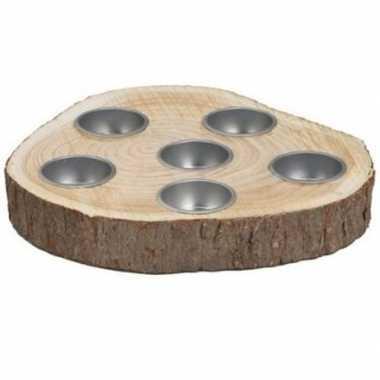 Ronde houten schijf kaars kaarsen borden 19,5 cm