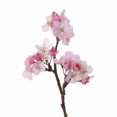 Roze nep appelbloesem tak 36 cm