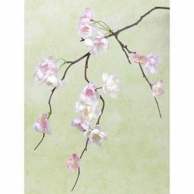 Roze nep kersenbloesem tak 83 cm
