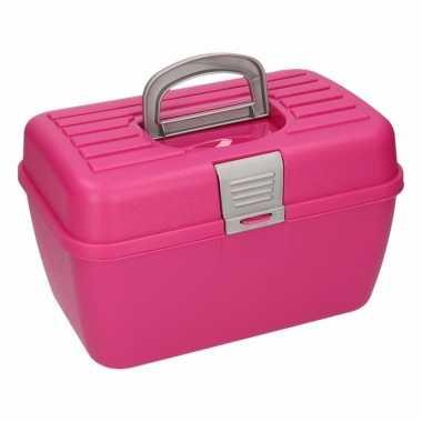 Roze opbergbox 28 cm