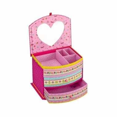Roze prinsessen juwelendoosje